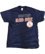 Vintage 1980s Thin Single Stitch Logo 7 Boston Red Sox T-Shirt Men's Large - $19.79