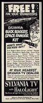 Buck Rogers Small AD Space Ranger Kit Offer 1952 Sylvania TV Advertising... - $12.99