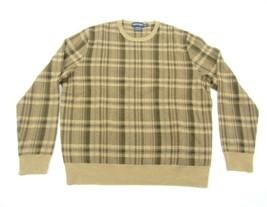 Ralph Lauren Polo Golf Cashmere Wool Sweater Plaid Top Mens Size XL Brow... - $34.65