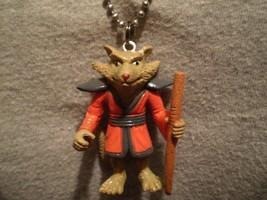Teenage Mutant Ninja Turtles Splinter Figure Necklace Cartoon Cool Charm Jewelry - $8.81