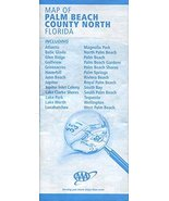MAP OF PALM BEACH COUNTY NORTH: FLORIDA /INCLUDING ATLANTIS /BELLE GLADE... - $14.85