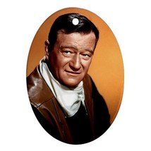 Memorabilia Oval Ornaments - John Wayne Procelain Ornaments (Oval) Chris... - $3.49