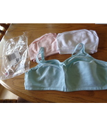 Comfort Choice Set of 3 Bra's 44D Blue Pink and White No Wire Cotton 106... - $21.99