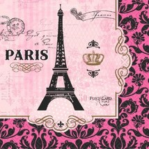Day in Paris 16 Lunch Napkins Birthday Party - $4.79