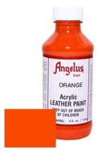 Angelus Leather Paint 4oz-Orange - $3.40