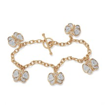 "18k Gold-Plated Filigree Butterfly Charm Bracelet 7.5"" - $30.82"