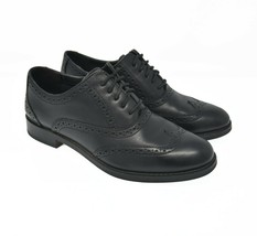 Cole Haan Womens Sz 5.5B Black Leather Lace Up Oxford Wingtip Brogue Dre... - $39.99