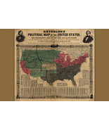 Reynolds's Political Map of United States; Civil War, 1856 Historic Map - $26.72+