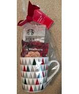 STARBUCKS 18 OZ HOLIDAY Christmas Tree MUG Gift Set w/Coffee Shortbread ... - $17.81
