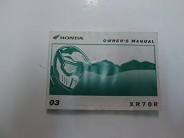 2003 Honda XR70R Owners Manual Worn Discolored Factory Oem Book 03 Deal *** - $15.80