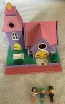Polly Pocket Vintage 1993 NO Working Lights Wedding Chapel 3 Dolls Church - $32.66