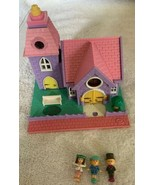 Polly Pocket Vintage 1993 NO Working Lights Wedding Chapel 3 Dolls Church - $32.66