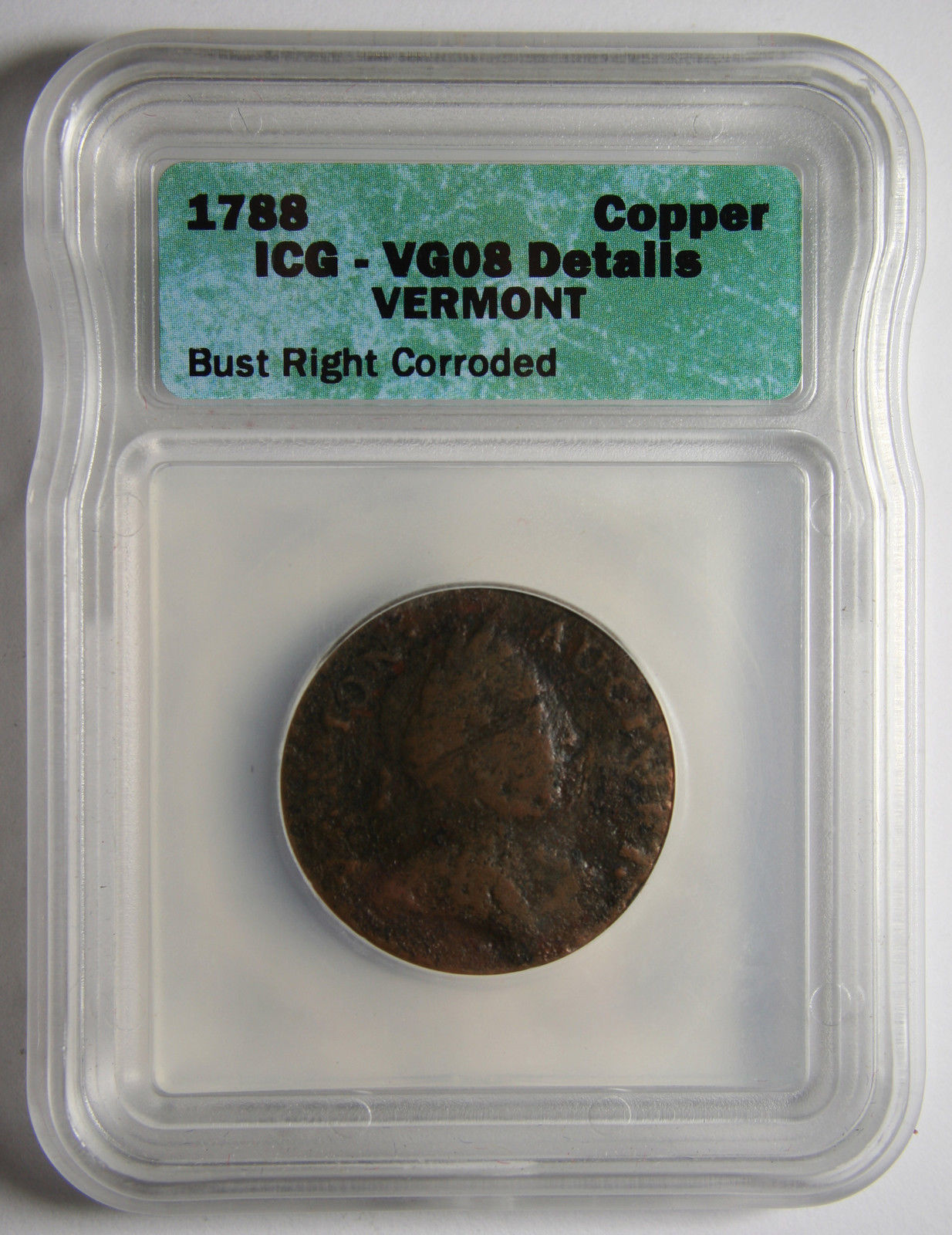 1788 Vermont Copper Colonial Coin Lot # MZ 3928