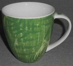 2006 Starbucks GREEN FOLIAGE GRAPHICS 14 oz Handled Mug - $14.84