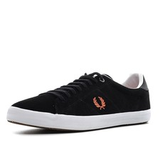Fred Perry Howells Suede Leather Men's Trainer Shoes B7469-220 - Black - $68.70