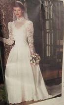 VOGUE SEWING PATTERN BRIDE BRIDAL ORIGINAL WEDDING DRESS GOWN PETTICOAT ... - $9.49