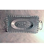 Aluminum Cromwell Hand Wrought Serving Tray Antique Scalloped Edge Fruit... - $20.00