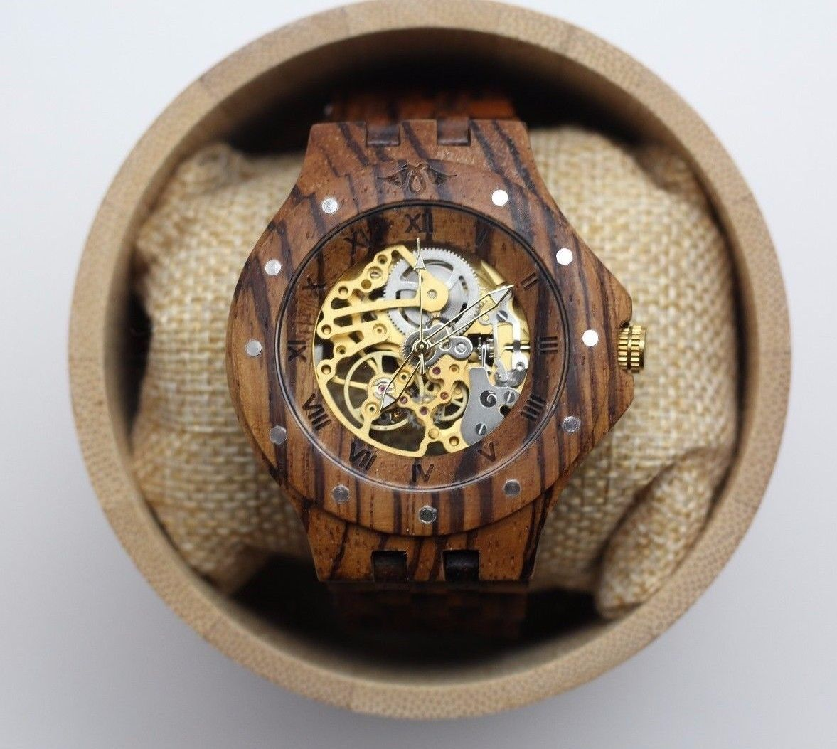 Automatic mechanical wood watch, personalized watch, men watch, wood watch,gift