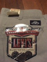Vtg Levis Pleated Pants 80S Silver Tab Grey 30X34 30 X 34 Made In Usa - $19.79
