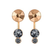 NIB Swarovski Slake Dot Pierced Earring Jackets, Crystal Authentic 5241291 - $49.49