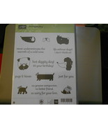 Stampin Up Wooden Stamp Set (new) HOT IDGGITY DOG (14 stamps) - $28.17