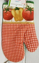 "1 Printed Kitchen Oven Mitt (10"")  VEGETABLES, TOMATOES & YELLOW PEPPER ... - $7.91"