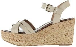 Sam Edelman Leather Braided Wedge Sandals Darline Modern Ivory 9.5M NEW A365928 - $77.20