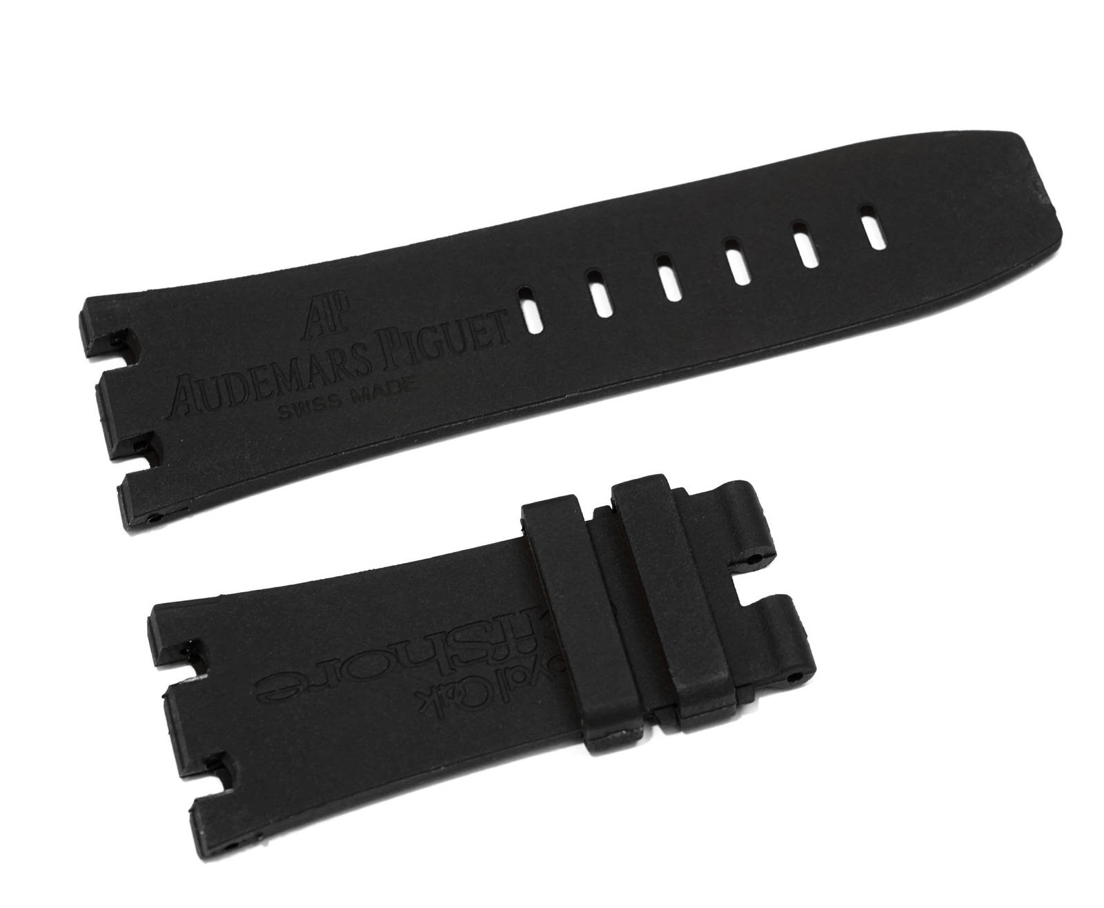 28mm Rubber Band Strap fit 42mm Audemars Piguet Royal Oak Offshore Black #RO2
