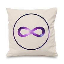 Infinity Symbol Infinite Galaxy Universe Spiritual Energy Pillow Cushion... - $9.06+