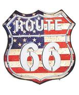 "Zaer Ltd. Vintage Style Route 66"" American Flag Light Up Sign - $49.95"