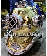 NauticalMart Brass Scuba Diving Divers Helmet US Navy Mark V Solid Brass... - $329.00