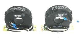 LOT OF 2 NEW FLEX-CORE 58 RBL-201 CURRENT TRANSFORMERS 200:5AMP, 600V, 50-400HZ