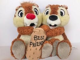 """Disneyland Chip & Dale Chipmunk Pair Holding Best Friends Peanut 6"""" each... - $19.75"""