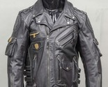 KMAX Men's Genuine Cowhide Premium Leather Motorcycle Biker Top Leather Jacket B - $4.430,40 MXN