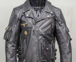 KMAX Men's Genuine Cowhide Premium Leather Motorcycle Biker Top Leather Jacket B - $256.76 CAD