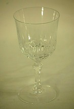"Classic Elegant Clear Crystal Long Stem Wine Glass Unknown Maker 6-1/4"" Tall b - $14.84"