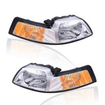 Halogen Headlight PAIR Set LH+RH Fits 1999 2000 2001 2002 2003 2004 Ford... - $89.00