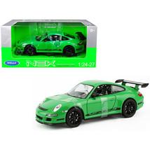 Porsche 911 (997) GT3 RS Green 1/24-1/27 Diecast Model Car by Welly 2249... - $29.91