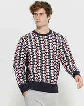 NWT CHAMPION Reverse Weave Crew Neck Sweatshirt All Over Logo Print XXL - $110.63