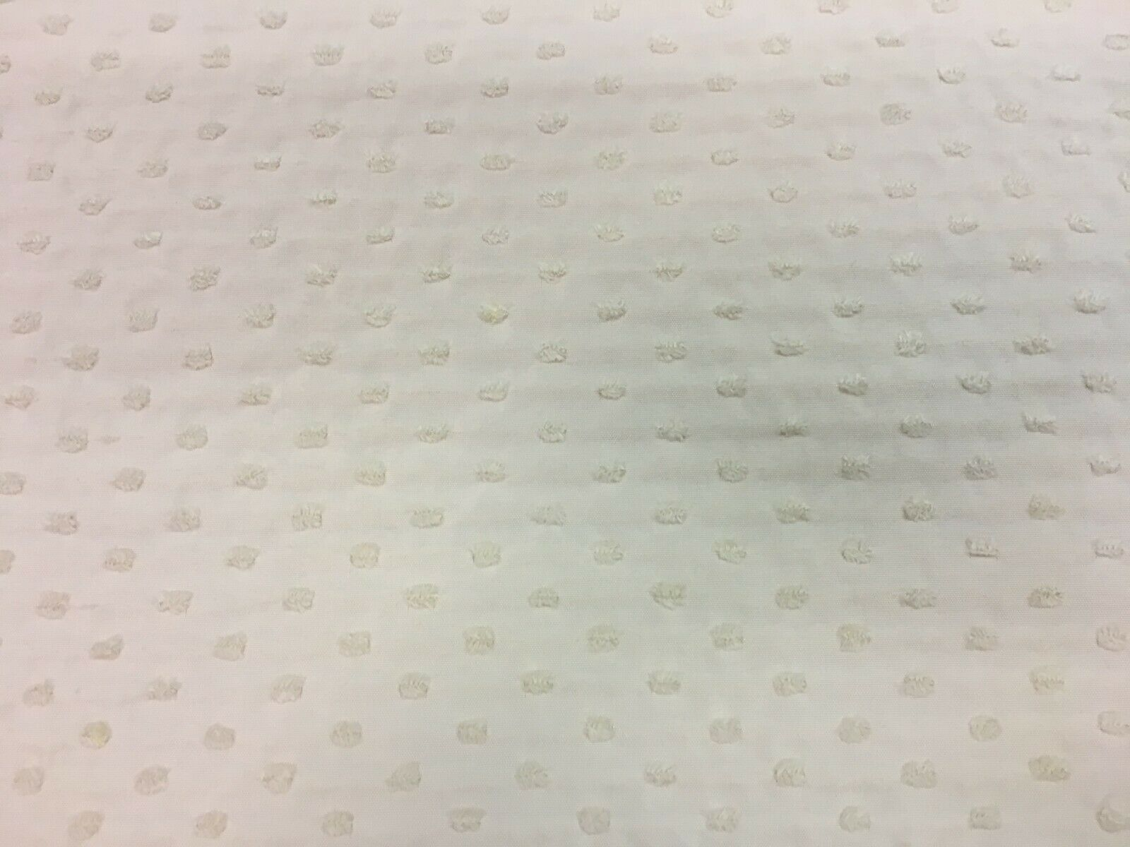 Stroheim and Romann Small Polka Dot White Multi-Purpose Fabric 4 yards DT