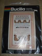 "Bucilla ""Cinnamon Bears"" Counted Cross Stitch Kit #49951 9x15"" Jean Farish - $13.99"