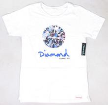 Diamante Supplly Co. Uomo Bianco Brillante Tee Nwt