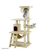 Cat Tree Kitty Pet Play House Hide N Seek Bed Tower Condo Scratch Toys B... - $107.51