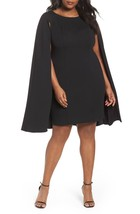 Adrianna Papell Structured Cape Sheath Dress - $124.00