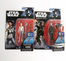 Star Wars Lot 2 Action Figures Princess Leia Organa Sargent Jyn Erso New... - $25.00