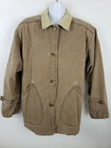 Brandon Thomas Brown Denim Blanket Lined Long Sleeve Button Jacket Size L - $34.64