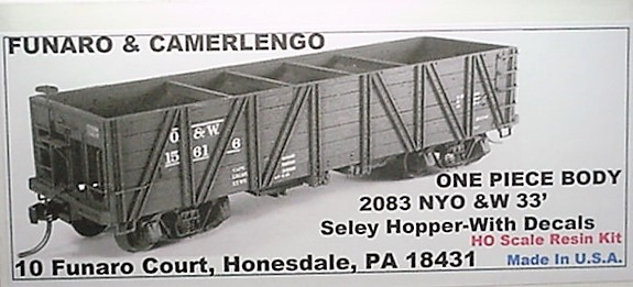 Funaro & Camerlengo HO NYO&W 33' Seley Hopper Kit 2083