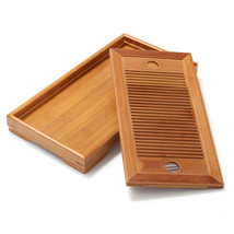 Small Bamboo Gongfu Tea Table Serving Tray 27*1... - $26.73