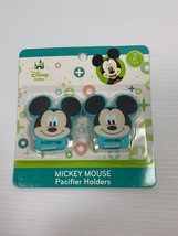 **** Disney Baby Mickey Mouse Pacifier Holders 2 Pack NEW!! **** - $4.79