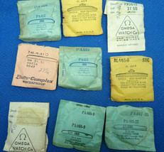 Omega Watch Crystals Vintage Lot Of 9 In Package For Restorations Sea Master - $237.04